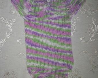 Knit baby onesie 3-6 months