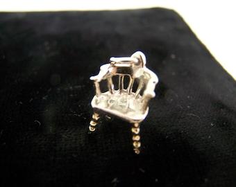 Vintage Sterling Silver English Windsor Chair CHARM for Charm Bracelet