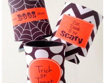 Set of 3 Halloween Can Insulator
