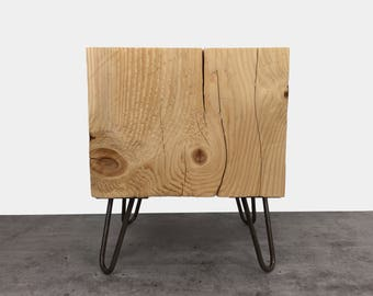 Timber Side Table / Wood Block Coffee Table / End Table / Tree Stump Table