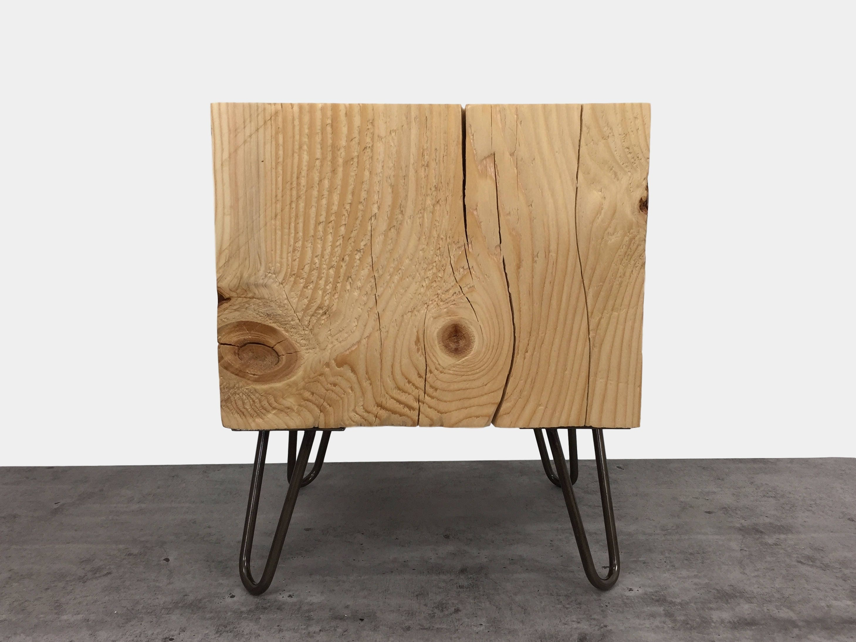 Timber Side Table Wood Block Coffee Table End Table Tree
