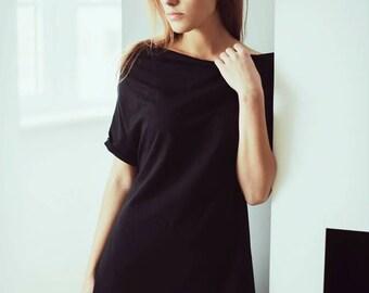 Black tunic/ Black clothing/ Black tunic top/ Women's tunic/ Tunic dress/ Black Women's tunic/ Gift for her/ Black women's dress/ Black dres