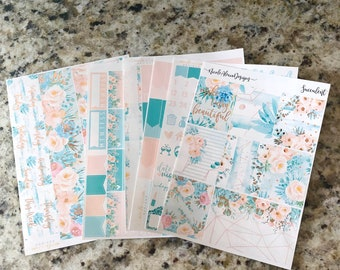 FOIL Succulent Deluxe Kit, planner stickers