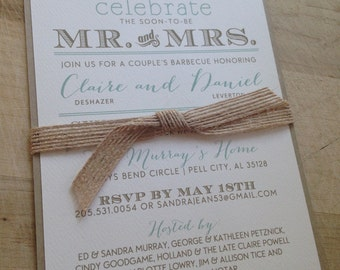 DIY Digital Printable Couple's Shower Invitation // Rustic and Vintage // Twine and Burlap // Purchase this Listing to Get Started
