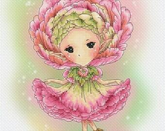 Cross stitch Chart Pattern Flower Sprites - Ranunculus Sprite