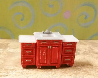 3D Printed Bathroom Vanity 1:24 Scale for Dollhouses and Dioramas