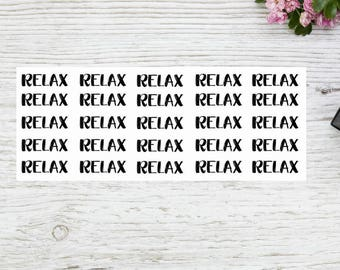 Planner stickers words RELAX stickers WO 1215