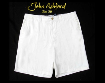 vintage men's shorts,men' dress shorts, casual shorts, men's white shorts, Size 38,    # 24