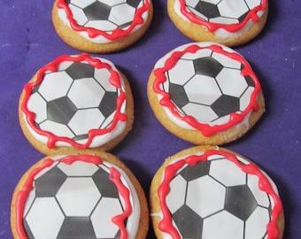 Soccer ball sugar cookies 12