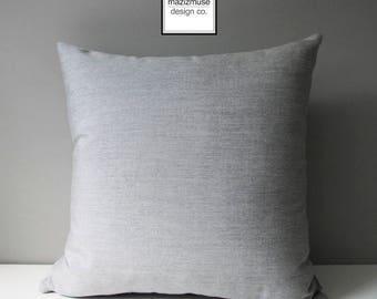 Granite Grey Outdoor Pillow Cover, Decorative Pillow Cover, Modern Light Grey Pillow Cover, Silver Gray Sunbrella Cushion Cover, Mazizmuse