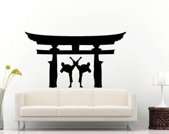 Karate Martial Arts Fighting Sports Kimono Japanese Culture  DIY Wall Stickers Decals Vinyl Mural Decor Art L2171