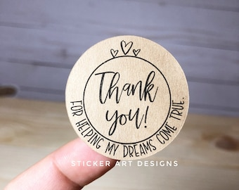 60 Business Stickers, Thank You For you support Stickers, Small Business Thank You Stickers, Business Packaging Stickers, Fun Cute Stickers