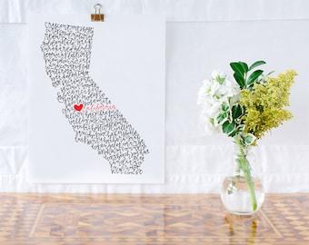 California Illustration Print