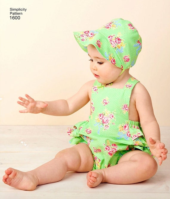 Vintage Baby Romper Pattern Toddlers\' Sunsuit Pattern