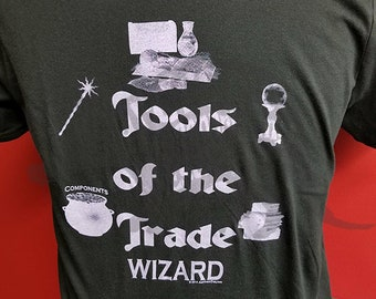 Tools of the Trade - Wizard - RPG - Tabletop Gamer Hand Printed Tee