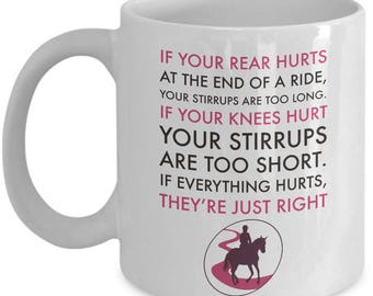 Funny Horse Coffee Mug - 11oz Ceramic Horse Mug For Women And Girls - Horse Gifts For Women - Horse Lovers Gift Cup