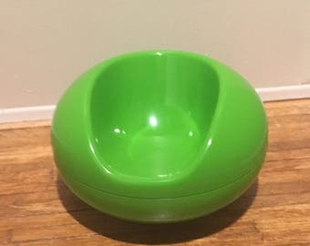 Mid Century Modern Dollhouse Green Chair 1:12 Scale