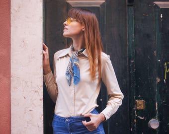 VTG seventies cream blouse.