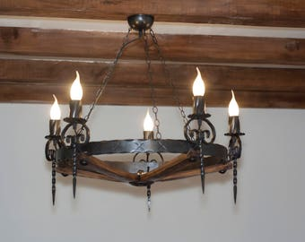 Rustic chandelier etsy aloadofball Images
