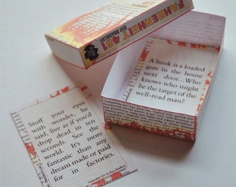 Book Box No. 1 - Fahrenheit 451 by Ray Bradbury - Printable PDF - INSTANT DOWNLOAD