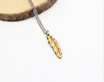 Feather Necklace | Laser Cut Nature Jewellery