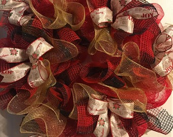 Red and Black Country wreath