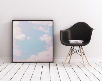 Cloud Print, Sky Art, Serene Wall Art - Every Cloud Has a Pink Lining