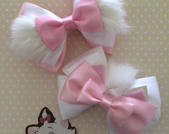 Parisian Kitten Hair Bow (two styles)
