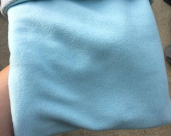 Solid color fleece outside fat hog snuggle sack sleep sack / small animal cuddle pouch