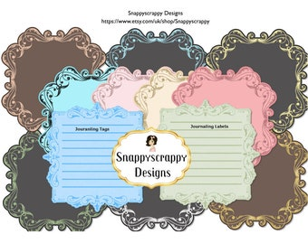 Journaling Tags and Labels  Clipart, CU4CU