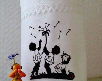 Mother's Day Light bag Vasenhusse embroidered Leinenja