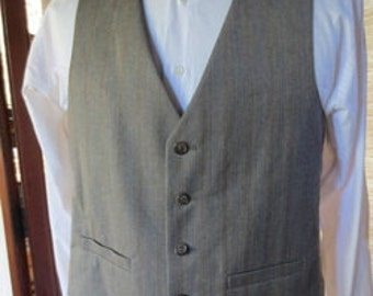 Size 40 Vintage FULLY LINED Men's Vest, no belt