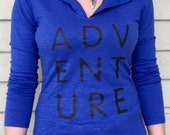 ADVENTURE- Women's Long Sleeve T-shirt Hoodie- Wome...