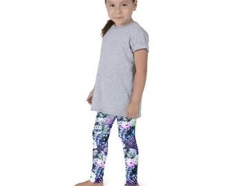 Leggings for kids - Jungle flower pattern