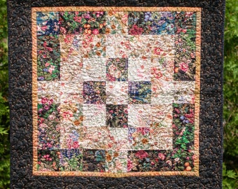 Floral Blended Wall Hanging - Quilted Wall Hanging