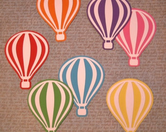 Hot air balloon decorations, Die cut balloons, Paper balloon, Hot air balloon decor, Confetti balloon, Hot air balloon nursery wall art