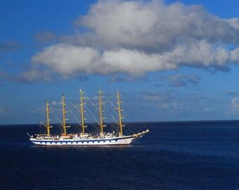 Four Mast Sail Boat