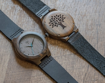 Wood Watches, clock, watch, Wooden watch, mens watch, handmade, birthday,  leather band, groomsmen gift, Father's day,anniversary gift,