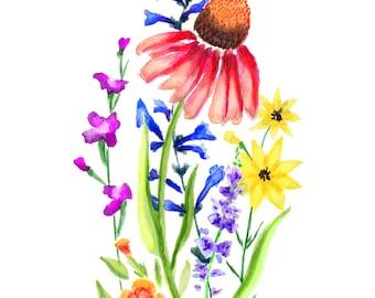 Summer Bouquet - Medium Print