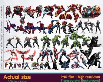superhero clipart - super hero clipart -  Digital 300 DPI PNG Images, Photos, Scrapbook, Cliparts - Instant Download