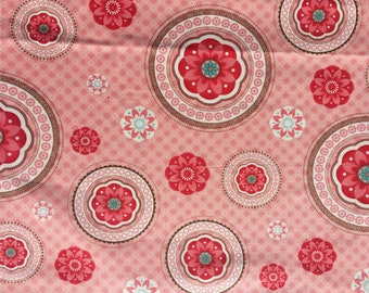 Bliss Bonnie & Camille moda fabric Medallions pink FQ or more
