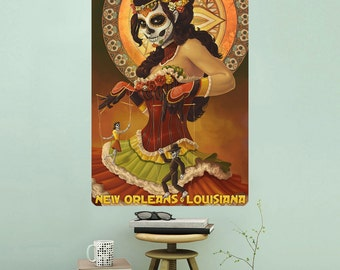 New Orleans Louisiana Voodoo Puppets Wall Decal - #60941