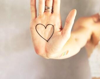 Heart temporary tattoo