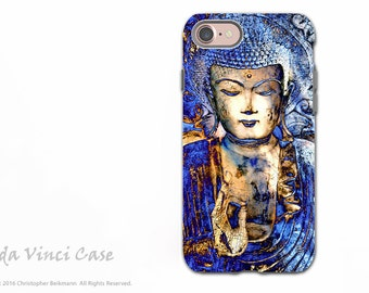 Blue Buddha iPhone 7 / iPhone 8 Tough Case - Dual Layer Protective Apple iPhone 7 / 8 Cover - Inner Guidance by Artist Christopher Beikmann