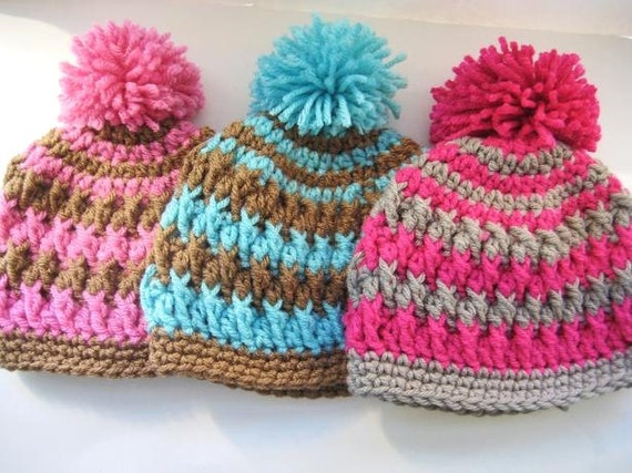 Crochet Pattern Hat Newborn Baby To Adult Boy And Girl Pdf