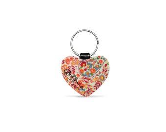 Retro Paisley Heart Key Ring