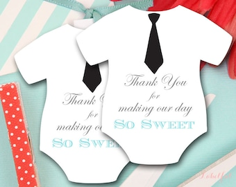Boy Baby Shower Favor Tags, Boy Baby Shower Favors, Thank You Tags, Bow tie Baby Shower, Baby Shower Favor Tags, Thank You Tags, LF22