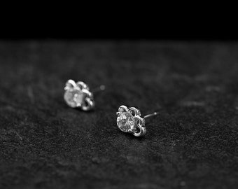 Silver Cloud Earring/ Silver Cloud Studs/ Silver CZ Earrings/ Cloud Earrings/ Silver Stud Earrings
