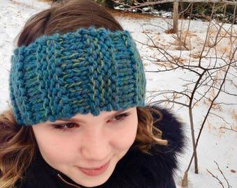 Variegated Rib Knit Earband