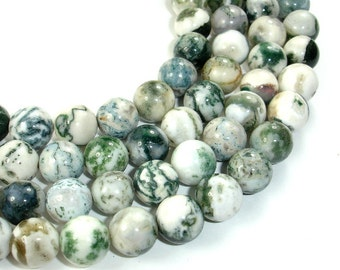 Tree Agate Beads, Round, 10mm, 15.5 Inch, Full strand, Approx 38 beads, Hole 1 mm (428054003)